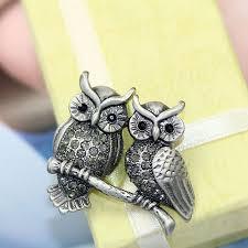 jet black gems brooches vintage owl pin brooch rhinestone