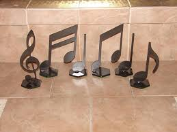 music note home decor musical notes home decor metal art music note set