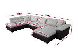dimension d un canapé canapé d angle convertible en u alta iv design