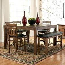 shaker espresso 6 piece dining table set with bench 6 piece dining set with bench silver 6 piece casual dining table