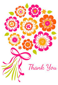 thank you card for flower bouquet thank you cards form various majestic color painted
