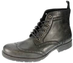black lace up motorcycle boots red tape mens butley brown leather lace up brogue boots ebay