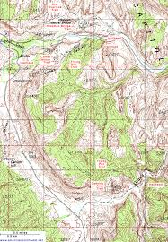 capitol reef national park map topographic map of cohab to cassidy arch capitol reef