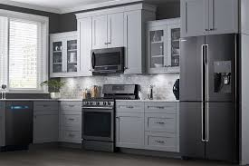 gray kitchen cabinets with black stainless steel appliances new black stainless steel for appliances blogs forums
