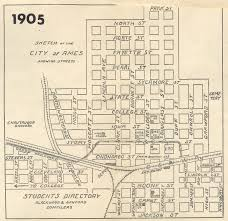 Iowa State University Campus Map by Ames U0026 College Railway The Dinkey Ames Historical Society