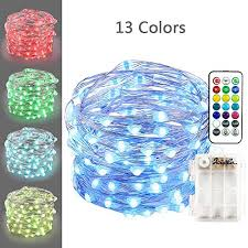battery powered outdoor led string lights icicle led string lights 50 led 13 color variation battery powered