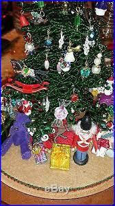 beaded tree glass dome miniature ornaments westrim