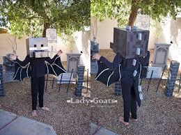 Enderman Halloween Costume Lady Goats Diy Ender Dragon Costume