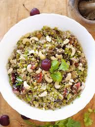 cuisiner des pois cass vadrouilles gourmandes salade de pois cassés quinoa cerises et