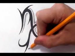 capricorn tattoos how to draw a simple tribal star sign youtube