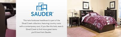 Shoal Creek Bedroom Furniture Amazon Com Sauder Shoal Creek Bookcase Headboard Twin Oiled