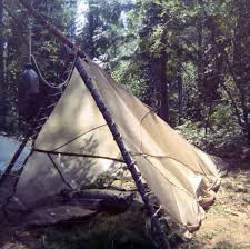 another version of camping under a surplus parachute love