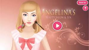 angelina s beauty salon spa dress up makeup manicure hair care game android ios gameplay you