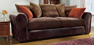 Fabric Or Leather Sofa Fabric And Leather Sofas Ezhandui