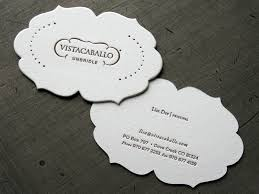 Cool Shaped Business Cards Vista Caballo Stationery
