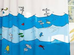 Kid Bathroom Shower Curtains One Fish Two Fish Fish Blue Fish Shower Curtain Shower