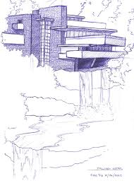 sketch falling water house recherche google falling waters