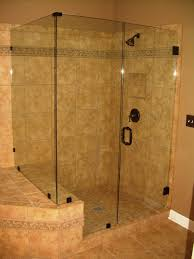 cool shower room design with alluring shower glass wall and simply