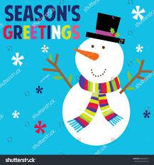 cute snowman colorful design vector stock vector 380486281