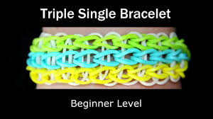 bracelet rubber bands youtube images How to make a rubber band triple single bracelet easy level jpg