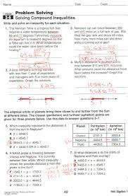 Solve And Graph The Inequalities Worksheet Solving Quadratic Inequalities Algebraically Worksheet Key Deployday