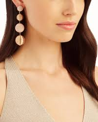 suzanna dai earrings suzanna dai blush and gold gumball drop earrings intermix