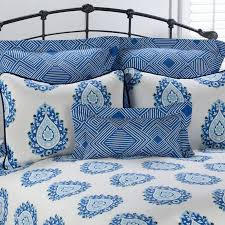Royal Blue Comforters Victor Mill Alcott Blue And White Paisley Comforter Or Duvet Cover