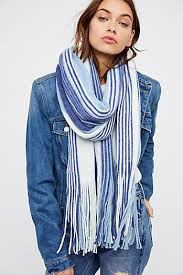 blue oversized scarves blanket chunky u0026 more free people