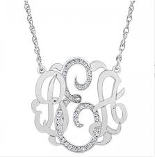 monogrammed necklace diamond classic monogram necklace be monogrammed