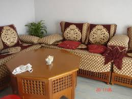 canape arabe couleur pour un salon marocain