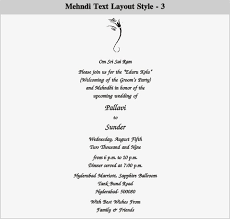 mehndi invitation wording sles indianweddingcard