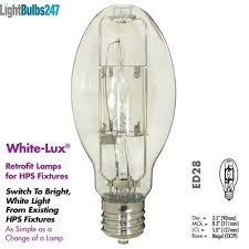 250 watt light bulb high pressure sodium retrofit to metal halide clear probe start