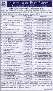 annual date sheet announced at nalanda open