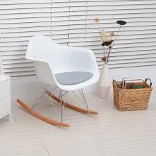 pu eames rocking chairs w cushion set of 2 aosom ca