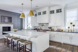 marble top kitchen island a pair of goodman hanging ls illuminate a marble top kitchen