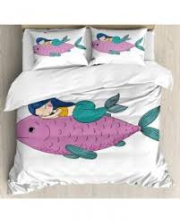 Fish Duvet Cover Mermaid Tapestry Baby Fish Kids Nursery Printed Wall Hanging