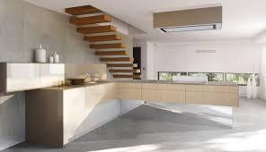 cuisine effet bois cuisine contemporaine en bois avec îlot laquée effet d