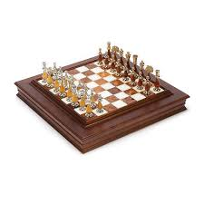 Wooden Chess Set by Elegant Gold Silver U0026 Wood Chess Set Hayneedle
