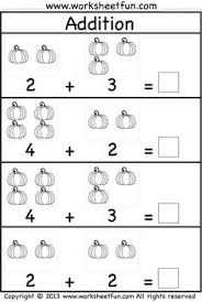 addition homework page from kindergarten addition worksheets