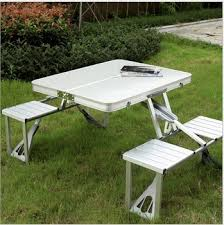 Camping Picnic Table Foldable Table New Design Aluminum Folding Camping Picnic Table