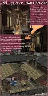 old japanese town edo vol2 3d models 3d figure assets sugatak