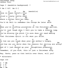 song lyrics with guitar chords for christmas song jethro tull