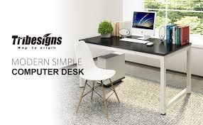 amazon com tribesigns computer desk 55