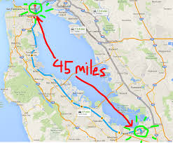 San Francisco Transportation Map by San Francisco Is 45 Miles Away From Santa Clara Where A Football