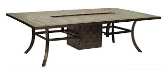 Fire Pit Rectangle Castelle Rectangular Firepit Dining Table All Things Barbecue