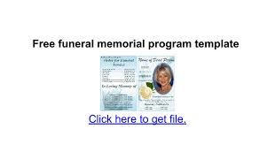 sle memorial programs free funeral memorial program template docs