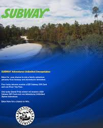 subway adventures unlimited sweepstakes official rules fox10
