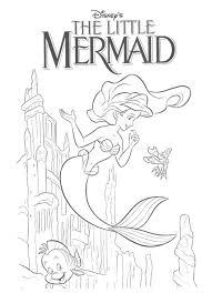 mermaid coloring pages king birthday printables free barbie