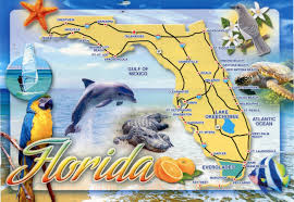 Orlando On Map by Large Detailed Tourist Map Of Florida Florida On Usa Map