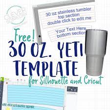 yeti tumbler template freebie clever someday tumblers tumbler